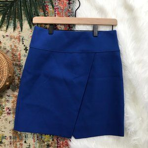 J. Crew • Royal Blue Mini Wrap Skirt